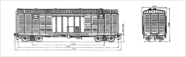 Крытые вагоны Модель 11-217