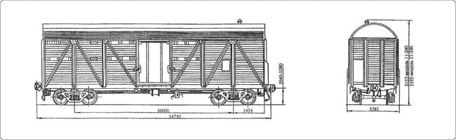 Крытые вагоны Модель 11-240