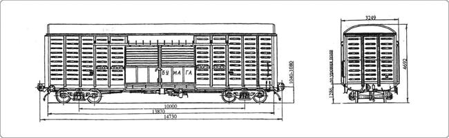 Крытые вагоны - Модель 11-259